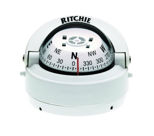 RITCHIE S-53W EXPLORER SURFACE MOUNT COMPASS WHITE