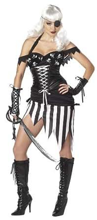California Costumes Pirate Mistress Set, Black/White, Small