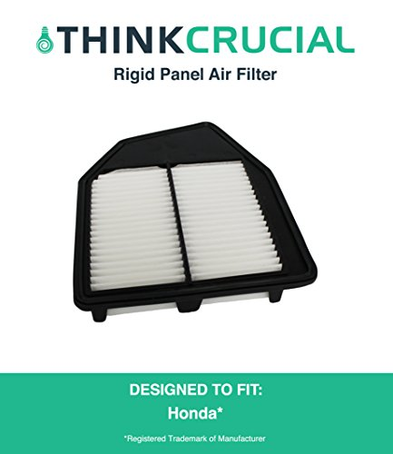 "Premium Rigid Panel Air Filter Fits Honda Accord and Honda Crosstour, Maximum Air Flow, 1.93"" x 8.67"" x 10.44"" in., Part A36309 and CA10467, by Think Crucial"