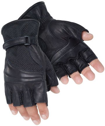 Tour Master Gel Cruiser 2 Fingerless Gloves - Large/Black
