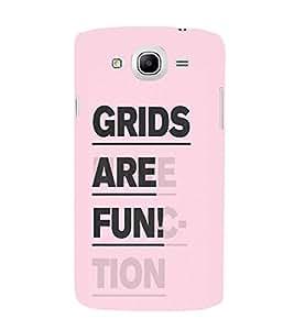 EPICCASE Grids are Fun Mobile Back Case Cover For Samsung Galaxy Mega 5.8 I 9150 (Designer Case)