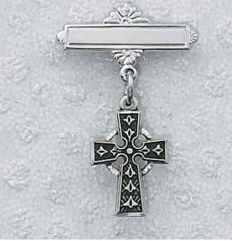 Sterling Silver Irish Celtic Baby Pin Gift Box