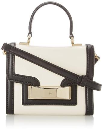 kate spade new york Carroll Park Mini Penelope Cross Body Bag,Cement/Black,One Size