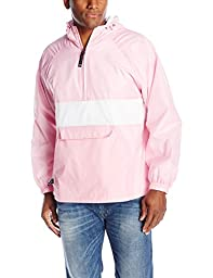 Charles River Apparel Men\'s Classic Striped Pullover, Pink/White, X-Small