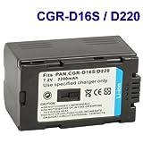 CGR-D16S / D220 Battery for Panasonic Digital Camera