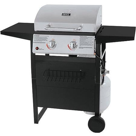 "Backyard Grill 2-burner Stainless Steel Lp Gas Grill with 300 Sq"" Cooking Surface - 114 Sq"" Warming Rack 16-burger Capacity"
