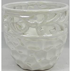 Ceramic Pearlised Flower Pot from Candlelight