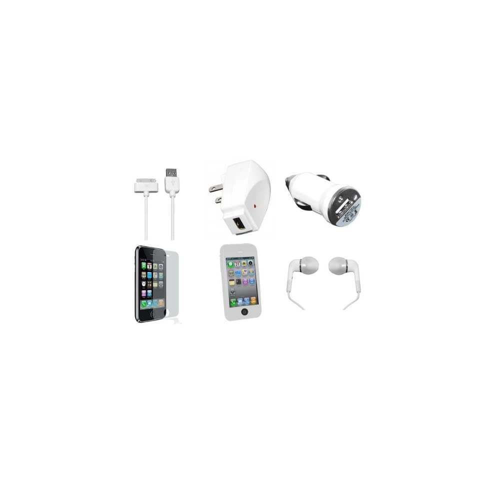 7 Piece Accessory Kit for iPhone 3G 3GS w/ White Case