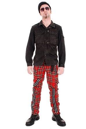 """Tiger of London Red Tartan Zip Bondage Pants - 28"""""""