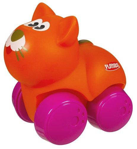 Hasbro Playskool Wheel pals Animalitos blanditos Gato - Animal de juguete con ruedas