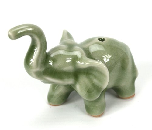 Tailandesa Celadon Elefante Incienso Palo Holder - Single elefante