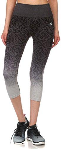 Simplicity Junior's Teenager Activewear Seamless Jacquard Capri Leggings Pants