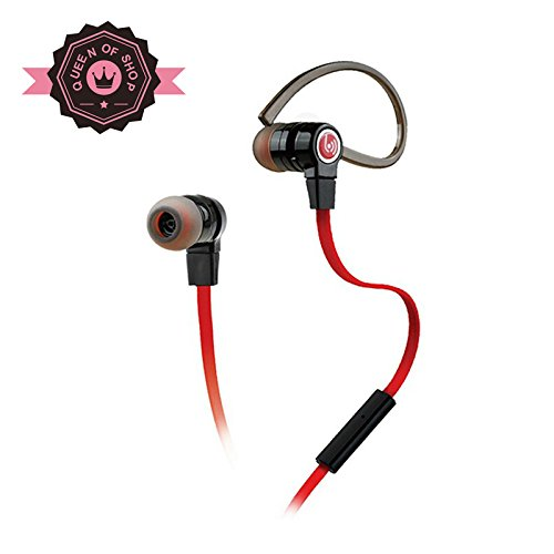 Bhbm200 Black High Performance In Ear Headphones With Built-In Mic And Tangle-Resistant Wired Headset Earbuds