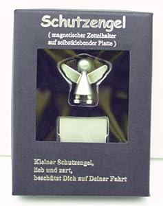 Engel Schutzengel Zettelhalter CAR-ANGEL Magnet Auto silber