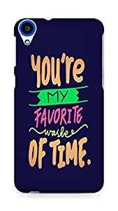 Amez designer printed 3d premium high quality back case cover for HTC Desire 820 (Love Quote 1)