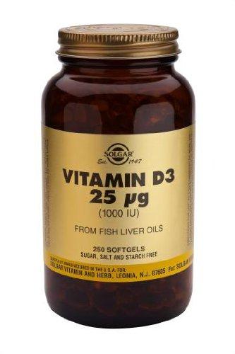 Solgar-Vitamin D3 Softgels 1000 IU (Cholecalciferol) 250