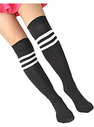 OURS Stripe Long Cotton Soccer Baseball Football Basketball Sport Socks