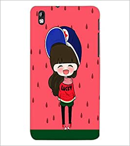 PrintDhaba Cute Doll D-5869 Back Case Cover for HTC DESIRE 816 (Multi-Coloured)