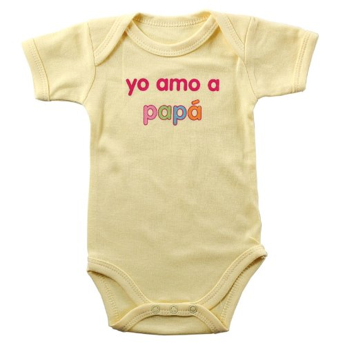 Baby Sayings Bodysuit - Yo Amo a Papa, 3-6 months