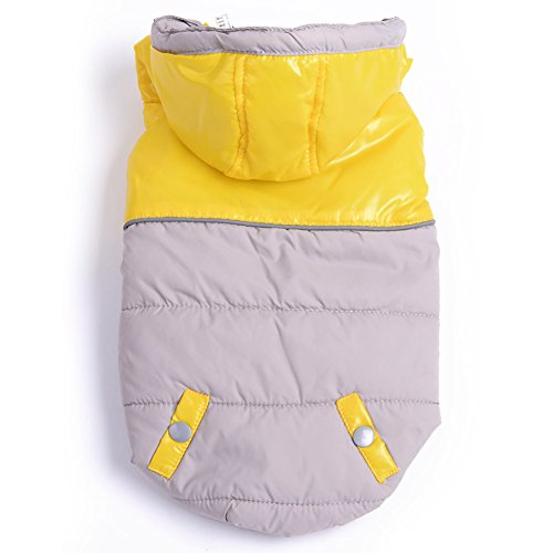 BINGPET Uniform Pet Puppy Dog Cat Winter Clothes Jacket , Yellow Large