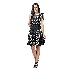 Eavan Women's Casual Wear Monochrome tone Polyester Dress