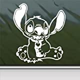 Disney White Sticker Decal Lilo And Stitch Alien White Car Window Wall Macbook Notebook Laptop Sticker Decal