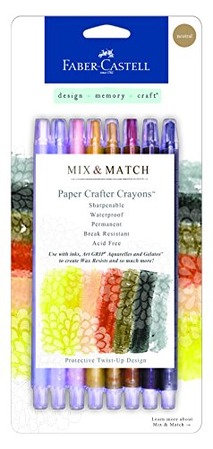 Faber-Castell FBR770522 FaberCastell Paper Crafter Mix & Match Crayon Set - Neutral