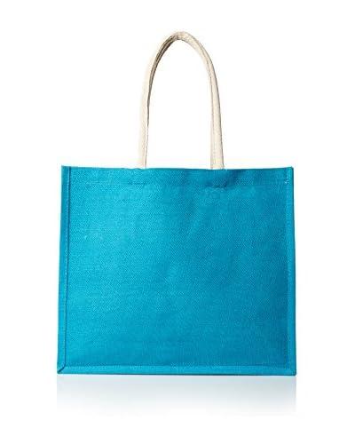 Espalma Jute Bag, Turquoise