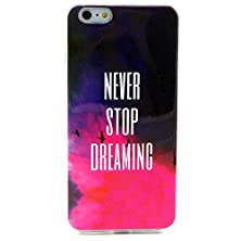 buy Finecase Iphone 6 Plus 5.5'' Tpu Case, Tpu Rubber Soft Back Cover Case, Ultra Slim Thin Silicon Gel Soft Cover Case, Scratchproof Dustproof Anti-Slip [Painted Drawing] Protective Skin For Apple Iphone 6 Plus (Never Stop You Dreaming)