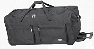 "34"" Inch Large Wheeled Trolley Bag, Luggage Holdall, Suitcase, BLACK"