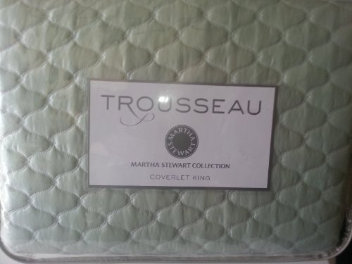 Check Out This Martha Stewart Trousseau Cirque Seafoam King Quilted Coverlet