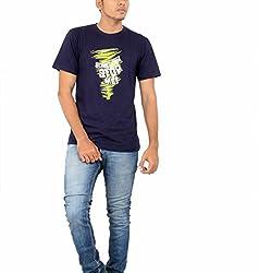 Younsters Choice Men's Cotton T-Shirt (YC-5834_Black_Large)