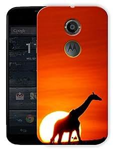 "Giraffe Life Printed Designer Mobile Back Cover For ""Motorola Moto X2"" By Humor Gang (3D, Matte Finish, Premium Quality, Protective Snap On Slim Hard Phone Case, Multi Color)"