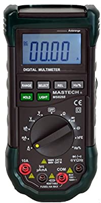 Mastech MS8268 Digital AC/DC Auto Manual Range Digital Multimeter Meter With Auto Plug Detection and Full Features