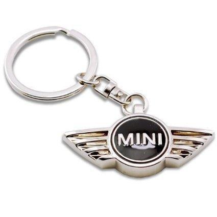 new-high-quality-mini-cooper-black-metal-car-keyring-fob-key-ring-free-box