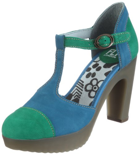 Fly London Women's JAMA Clogs and Mules 1PD142109 Green/Blue 000 9 UK