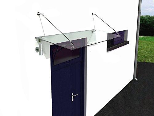 200 x 90 cm 2 haltestangen glasvordach vordach t rvordach t rdach haust r klarglas glas. Black Bedroom Furniture Sets. Home Design Ideas