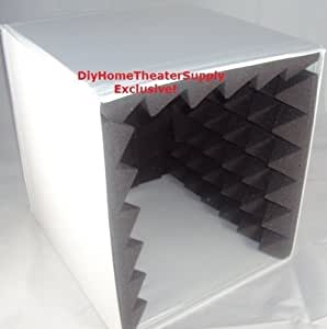 Semi-Rigid Portable Vocal/Sound Booth - Recording Studio and Voice Over - High NRC Acoustic Pyramid Foam - WHITE - FOR TABLETOP USE users are responsible if modifying for a tall stand