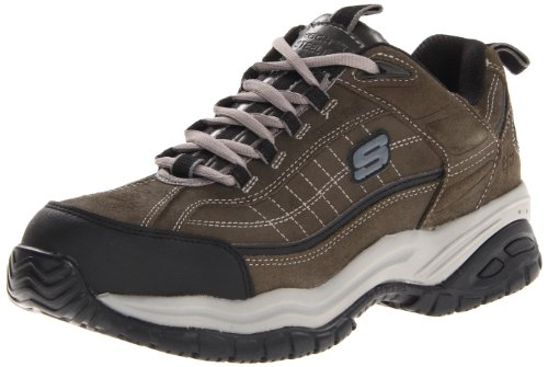 Skechers for Work Men's Soft Stride Work Boot,Charcoal,8 M US