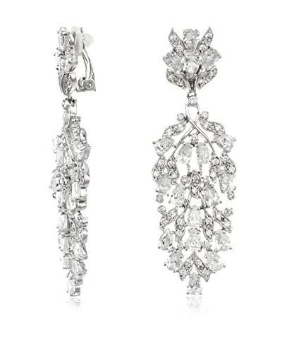 CZ by Kenneth Jay Lane Cluster with Leaf Drop CZ Earrings