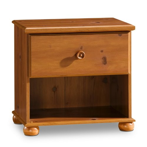 Cheap youth cottage style sunny pine finish night stand for Night stand cost