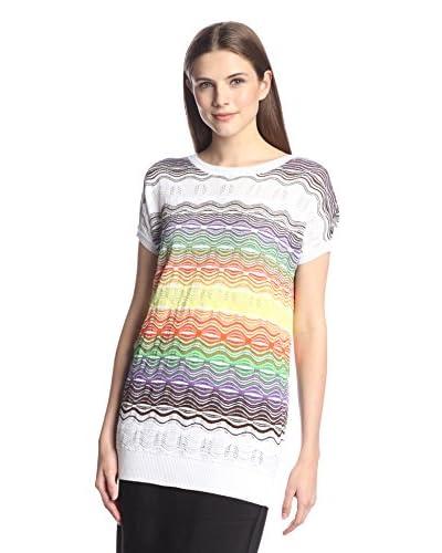 M Missoni Women's Long Knit Top  [White Multi]