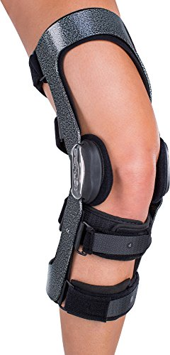 DonJoy Armor Knee Brace with FourcePoint Hinge, Standard Calf Length, Right Leg, Large