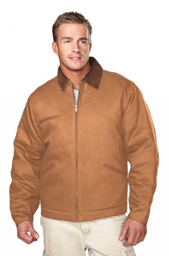 Tri-Mountain Cotton Canvas Work Jacket With Quilted Lining. 4800 - Spice / Brown / Black_5Xlt front-503570