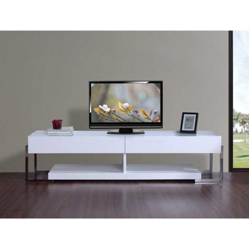 Cheap B- Modern Agent TV Stand (BM-650-WHT)