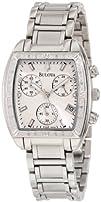 Bulova Womens 96R163 Diamond Bezel Watch