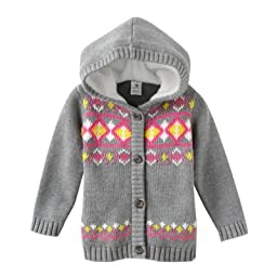 Carter\'s Baby Girls Mini Blues Hooded Knit Cardigan (3M-24M) (6 Months)