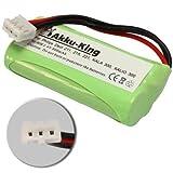 Akku-King Ni-MH Battery for Philips DECT 211 / 215 / 221 / KALA 300 / XALIO 300 - replaces 2HR-AAAU / H-AAA600X2 - 800mAh