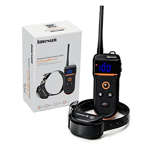 Imesun TRAINING568 Dog Training Collar Rechargeable and Waterproof 330 Yard Remote Dog Shock Collar with Beep Tone, Vibration and Shock Adjustable Electronic Electric Collar for One Dog 10-100 lbs (Delta Downs Hotel compare prices)