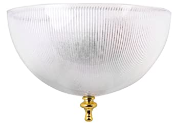 clip on ceiling light shade ribbed clear finish. Black Bedroom Furniture Sets. Home Design Ideas